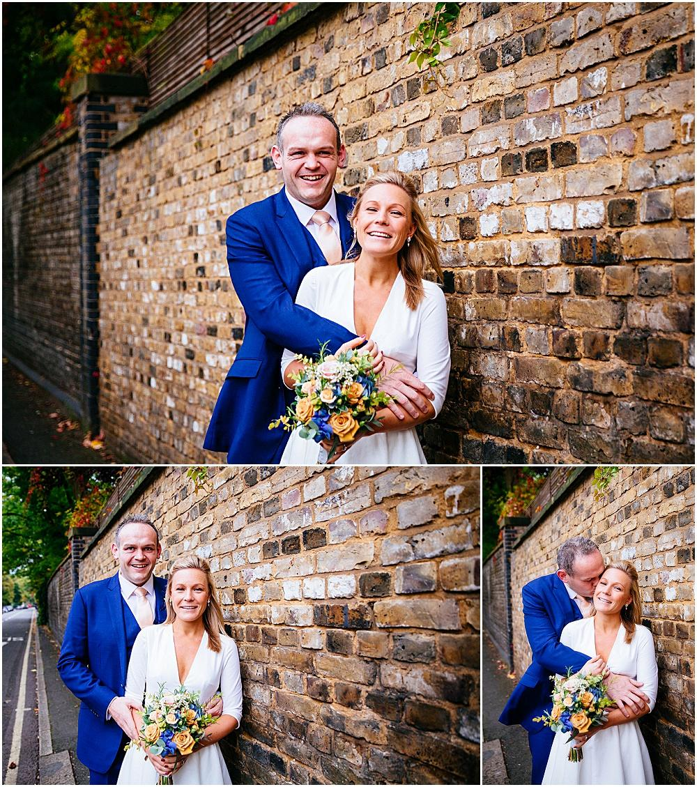 Relaxed london wedding photographs