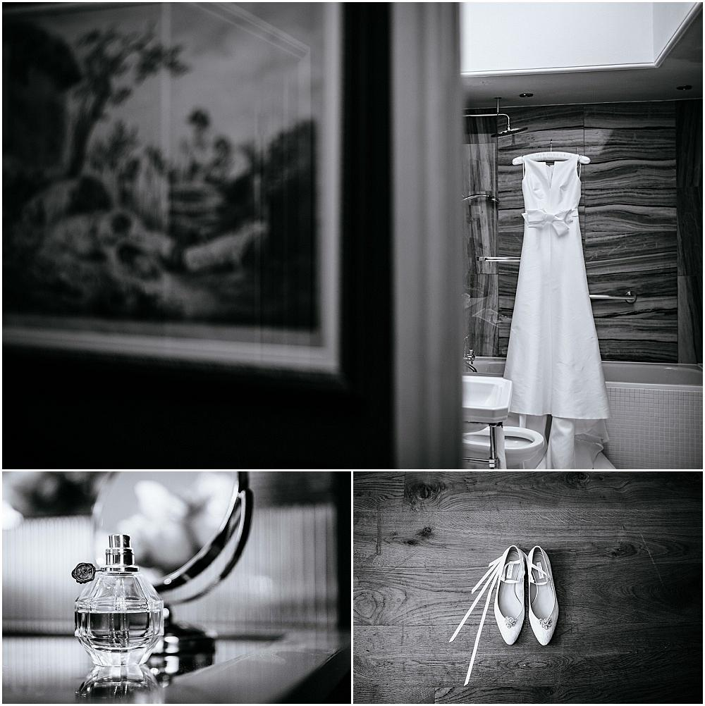 black and white wedding dress photo
