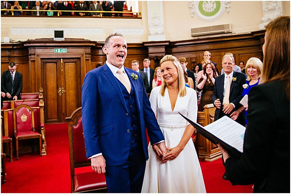Laughter during islington town hall wedding