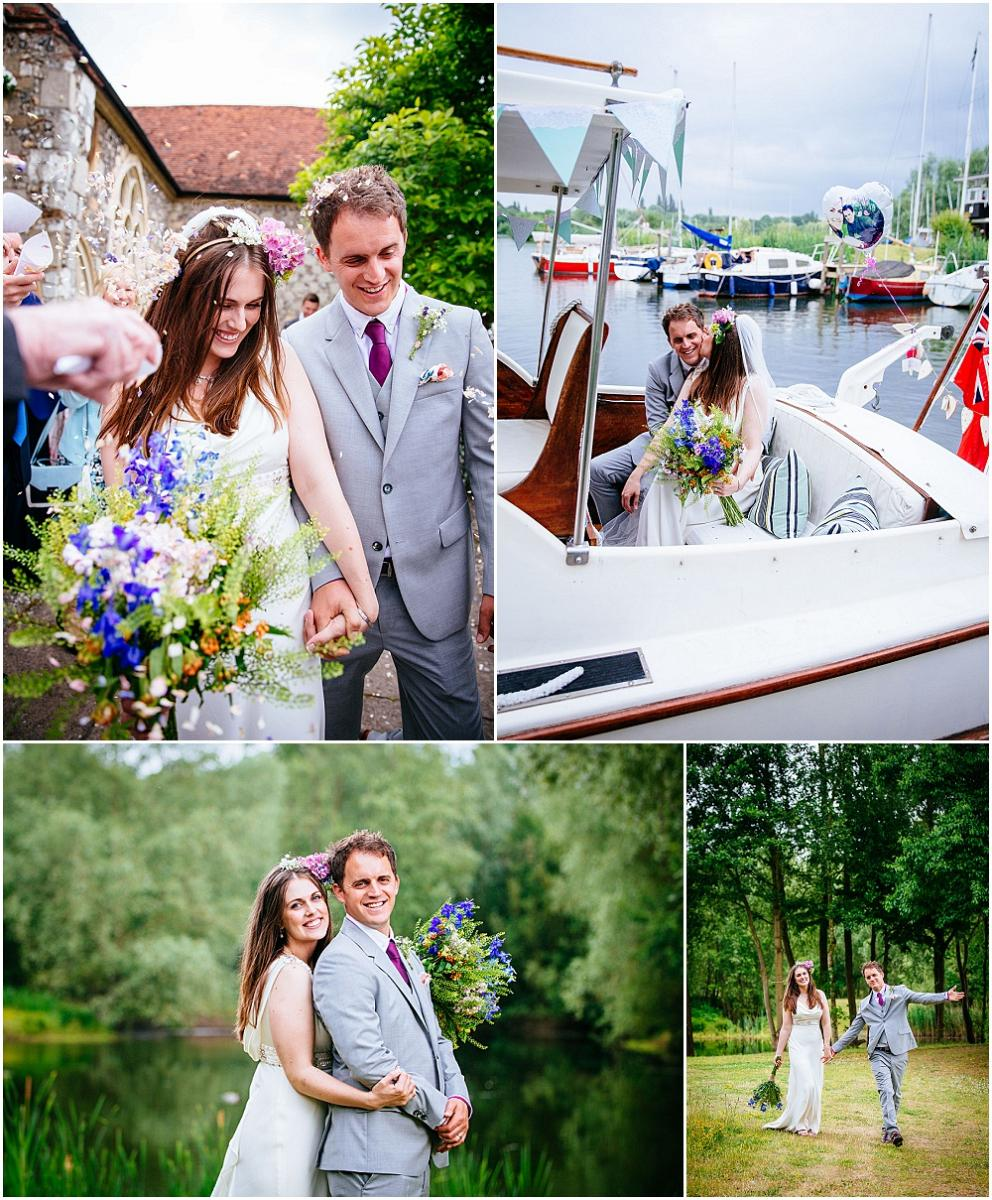 Stunning surrey bride on boat