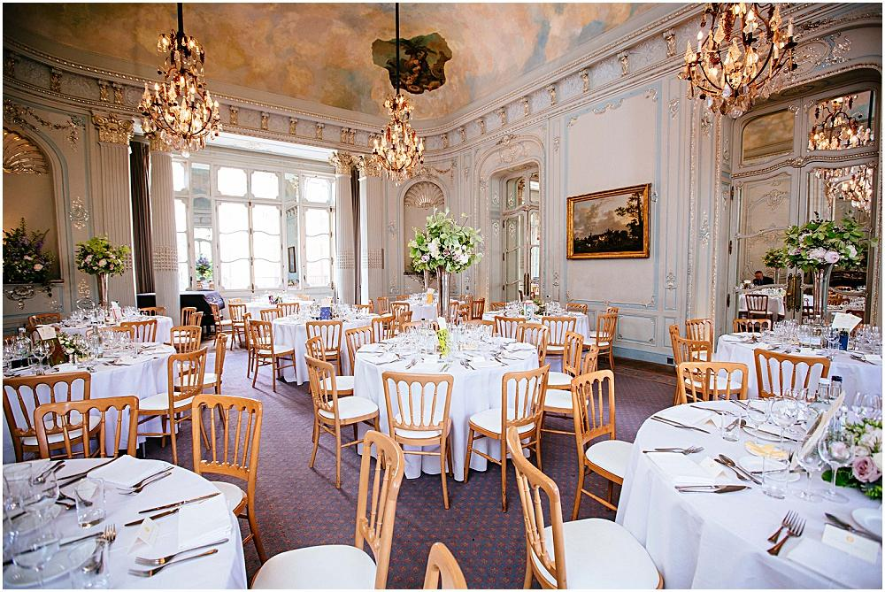 Savile Club set up for wedding breakfast