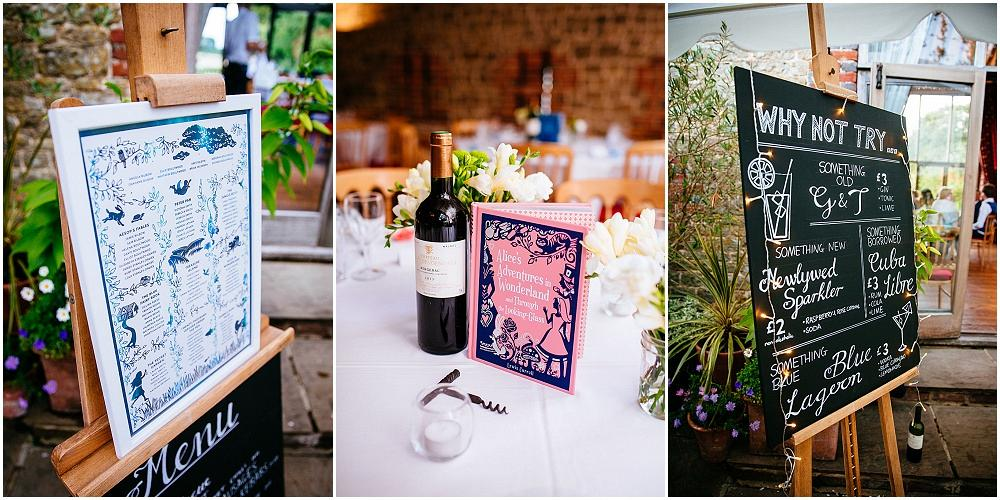 Books as centrepieces at weddings