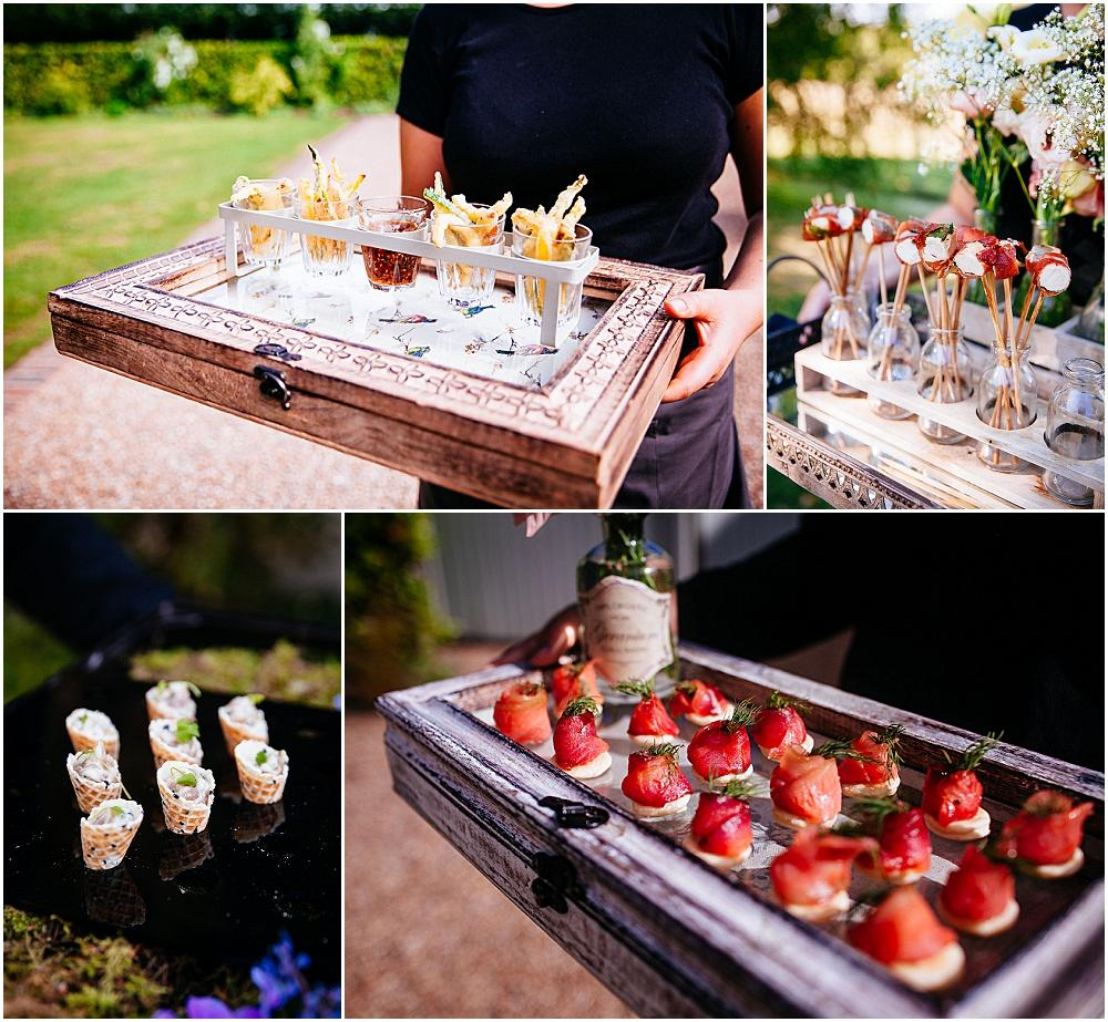 Kalm kitchen canapes at Gate Street Barn