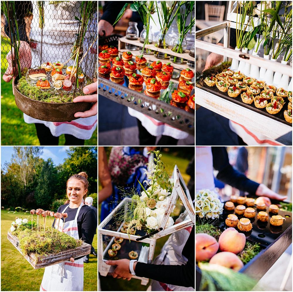 Kalm Kitchen canapes at Millbridge Court