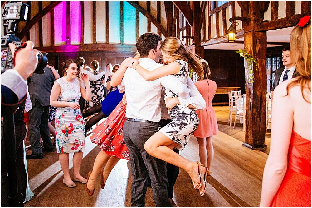 Ceilidh at great fosters wedding