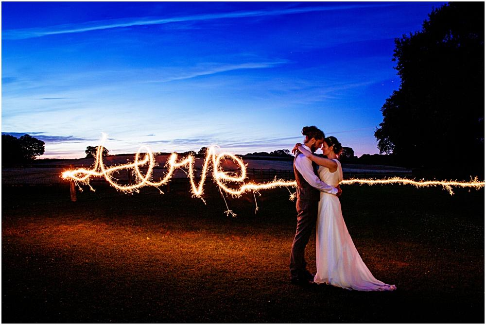 Creative wedding photography sparklers love