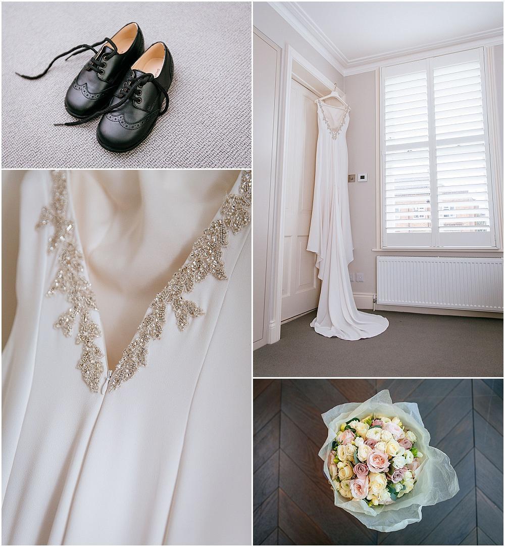 Backless pronovias wedding dress