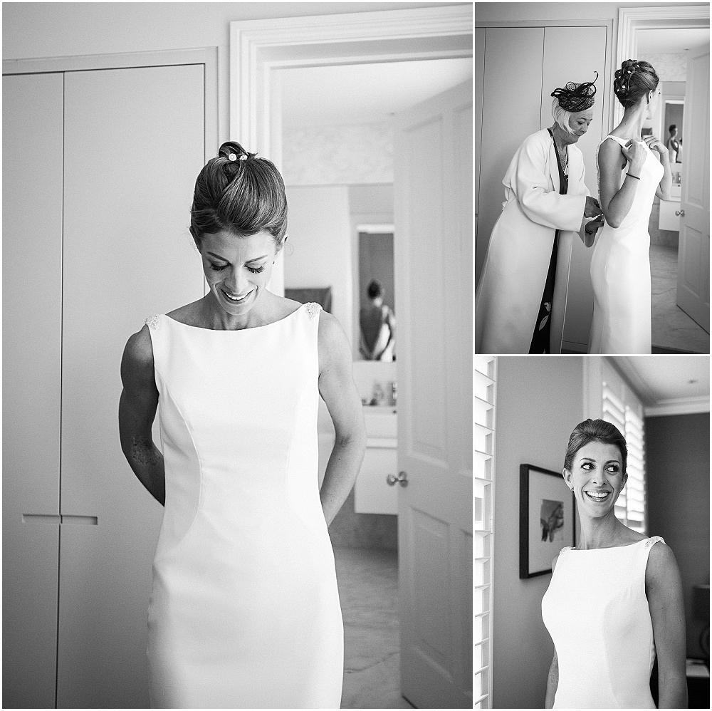 Stunning bride gets into pronovias dress