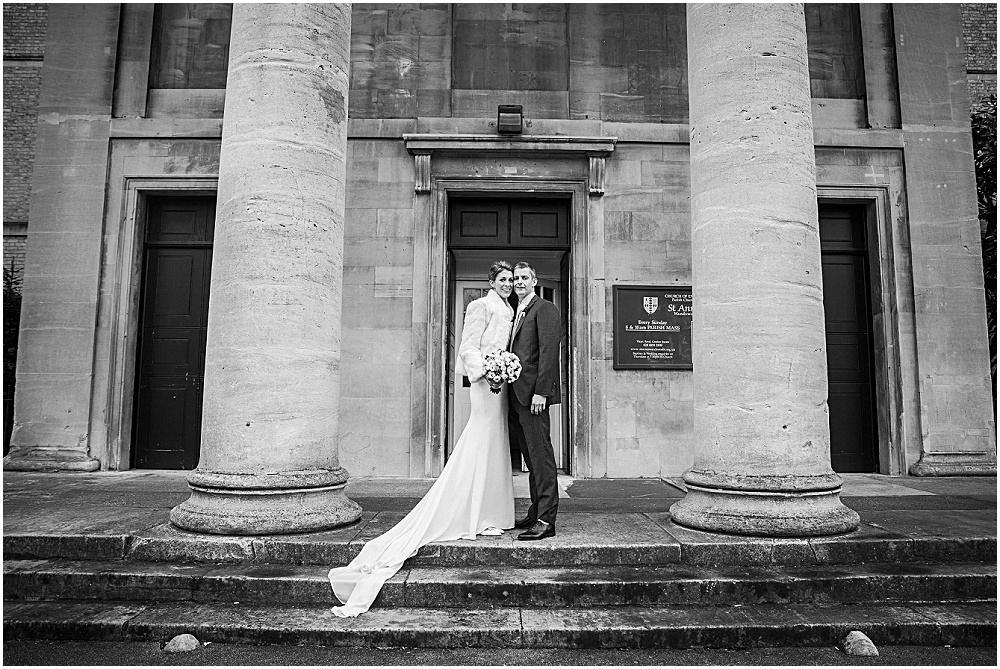 Winter wedding in wandsworth