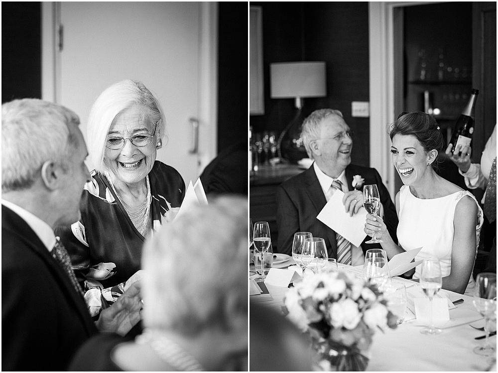 Laughter at chez bruce wedding