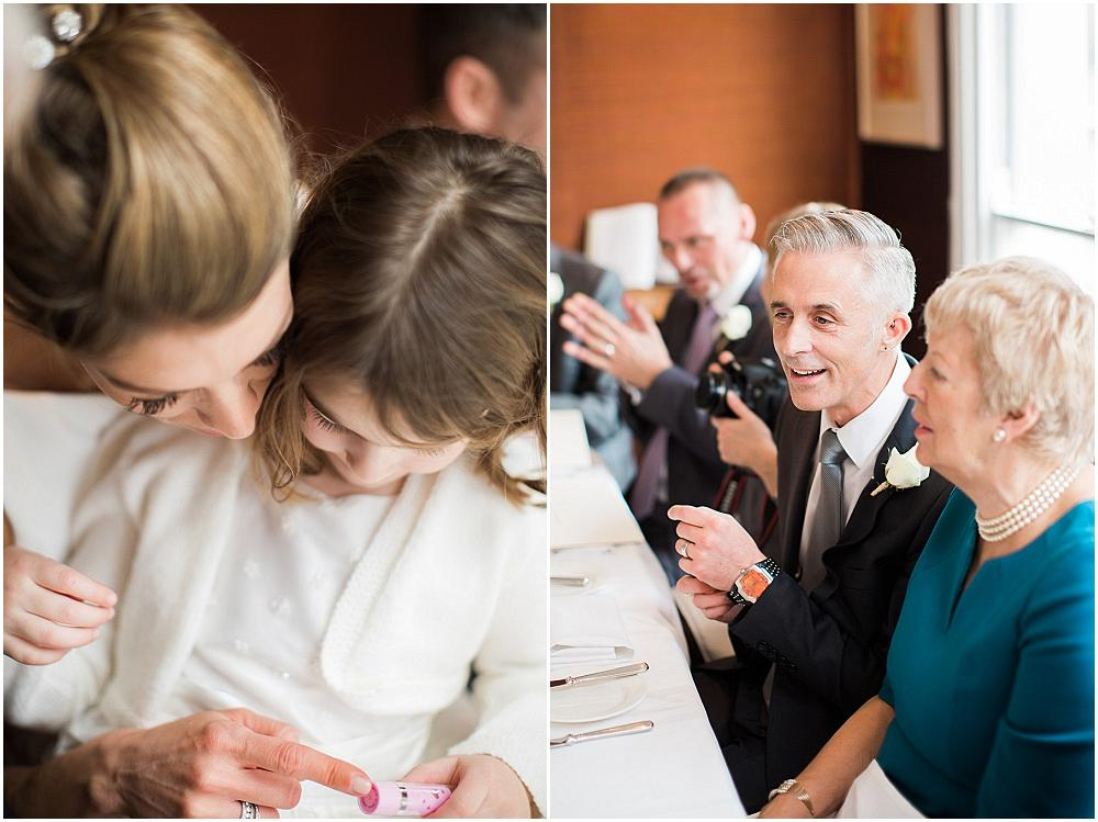 Gorgeous guests at intimate london wedding