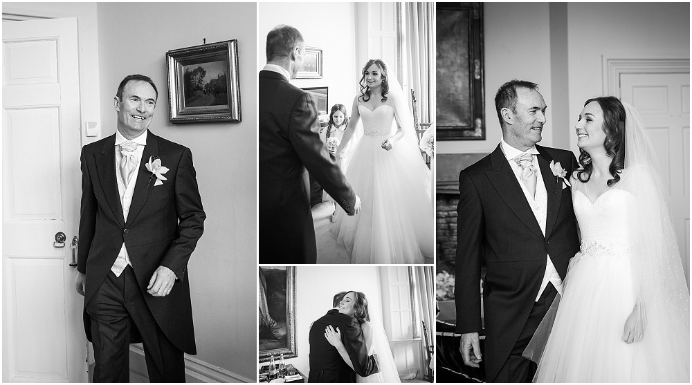 Dad seeing bride for the first time