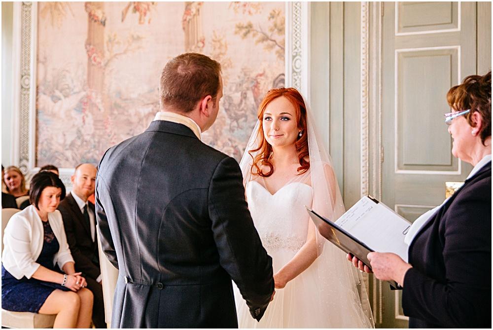 Wedding ceremony in leeds castle