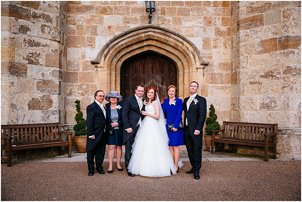 Formal wedding photography outside leeds castle