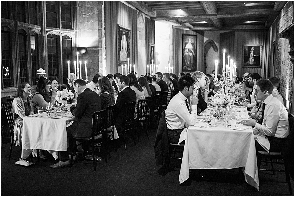 Candlelit wedding breakfast in henry 8th banquetting hall