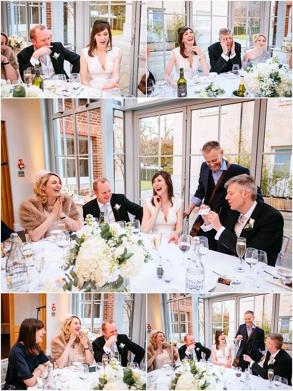 Magician making guests laugh at wedding