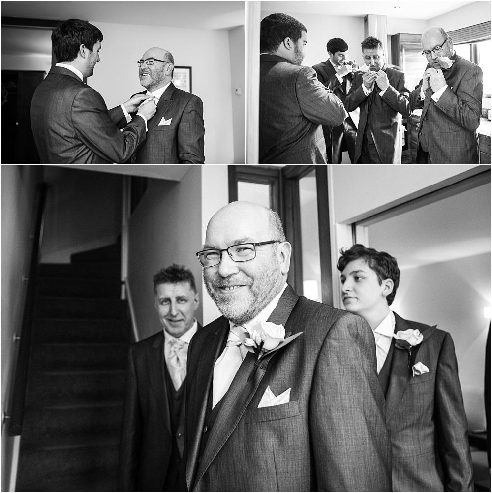 Men preparing for wedding
