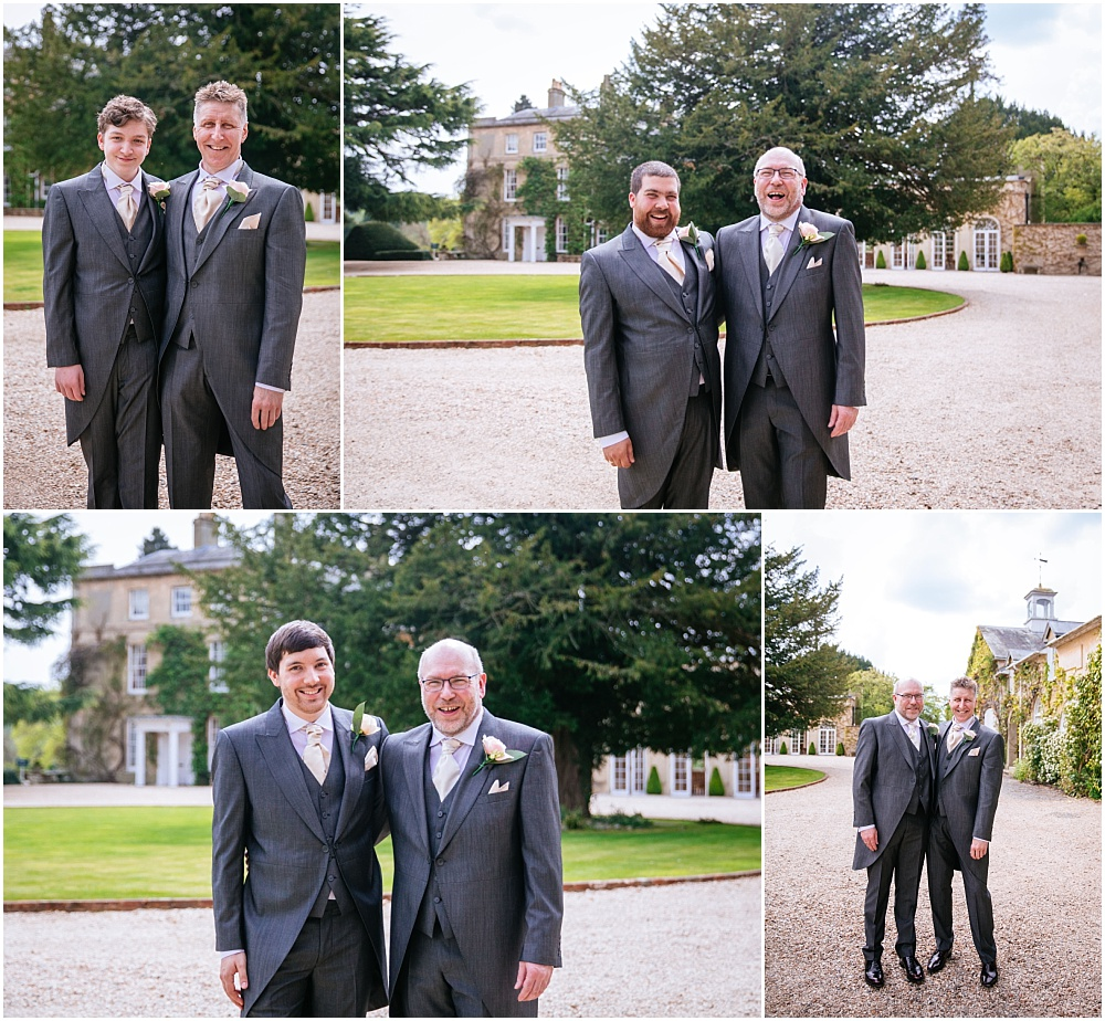 Groom and sons outside northbrook park