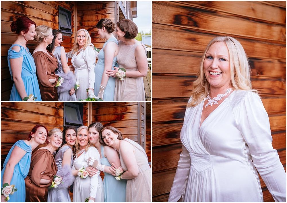 Bridesmaid photos outside northbrook park lodge