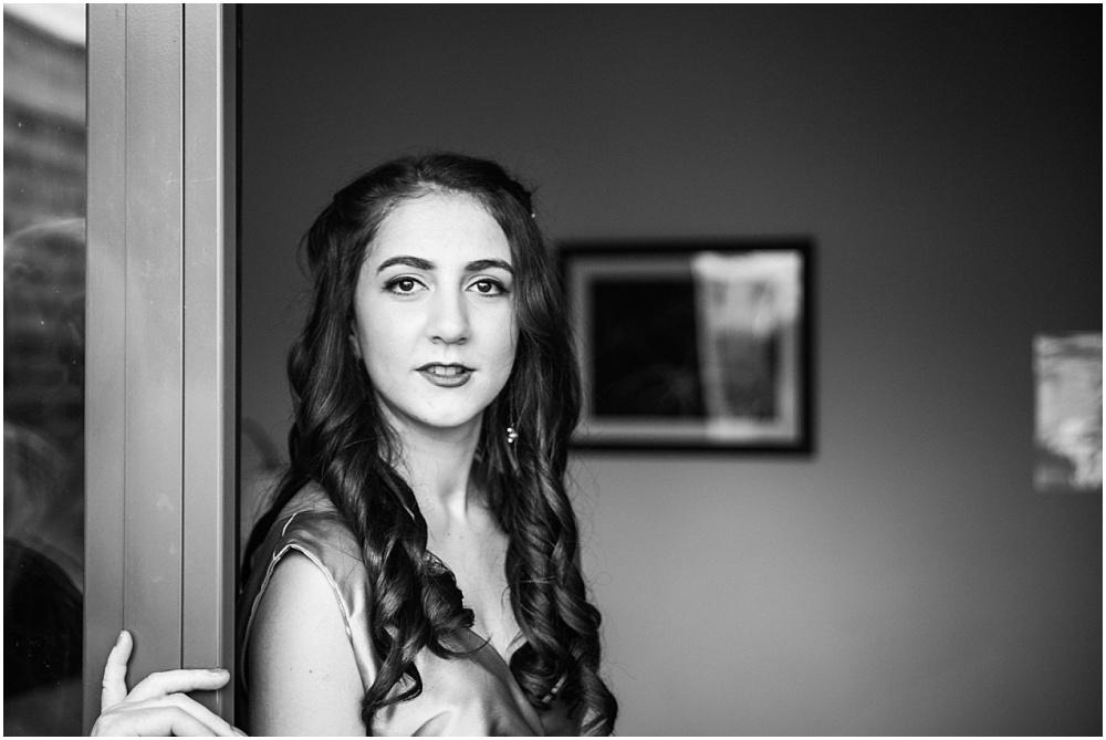 Bridesmaid with dark hair