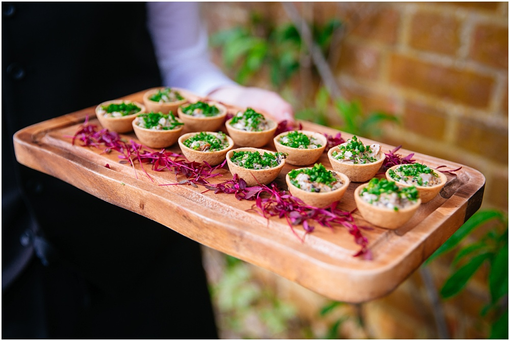 caper and berry canapes