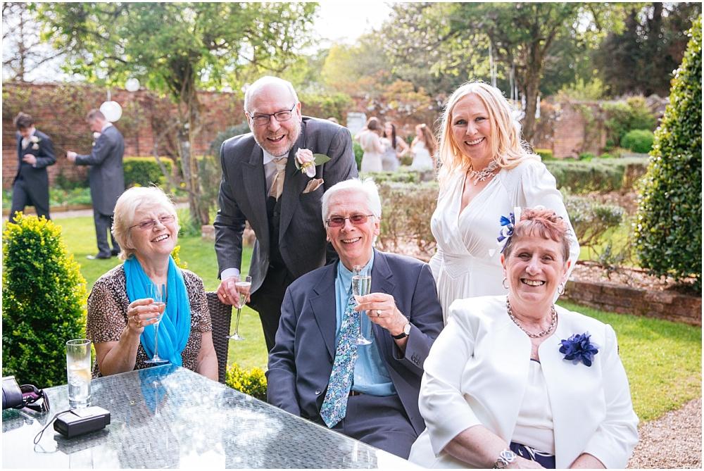 Informal group photo at wedding