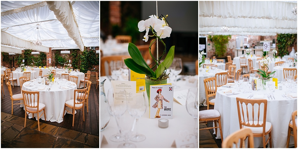 Orchid on wedding tables