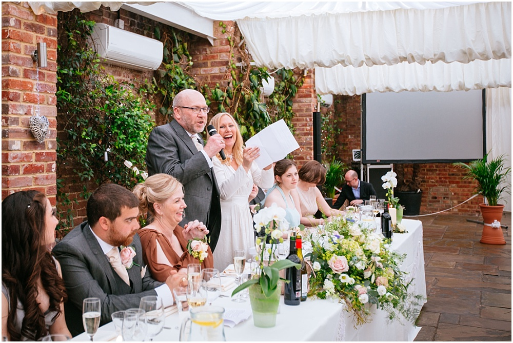 Bride and groom joint speech