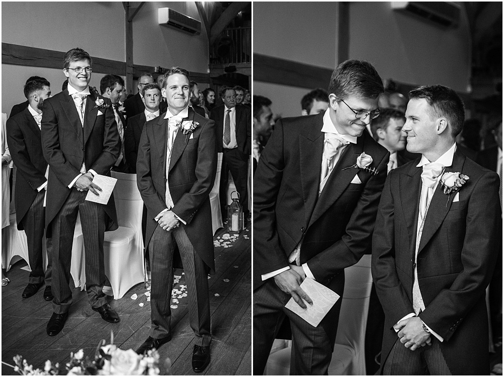 reassuring words from best man before bride walks down aisle