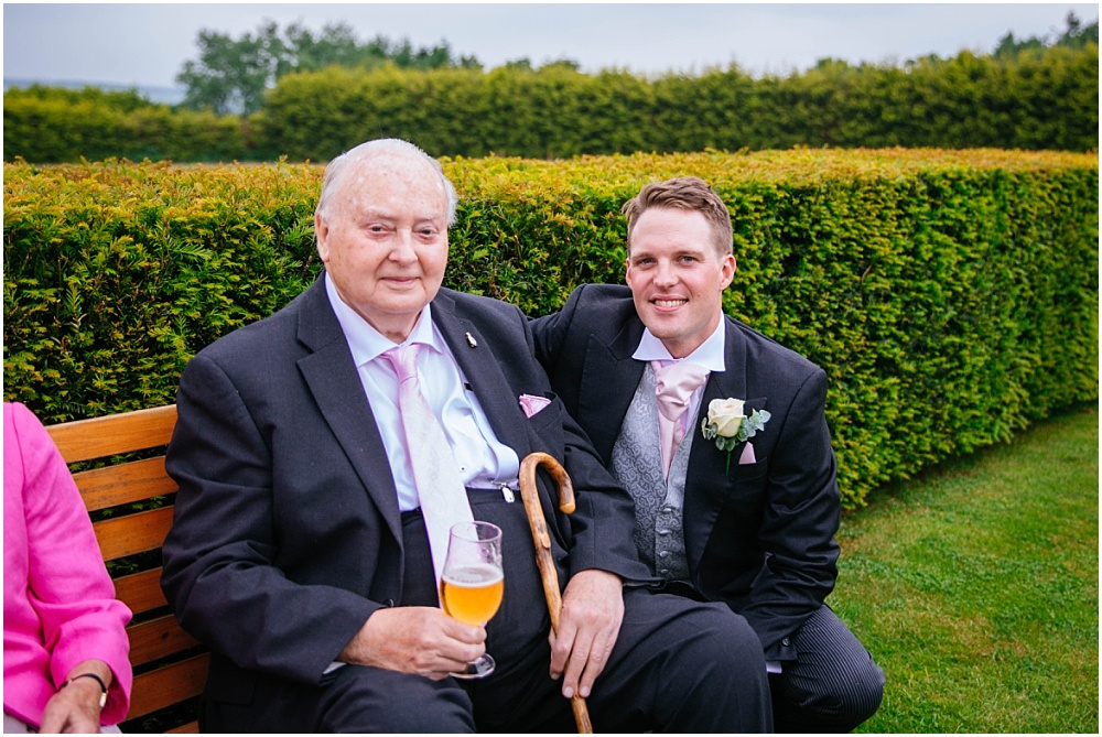 Groom and grandfather