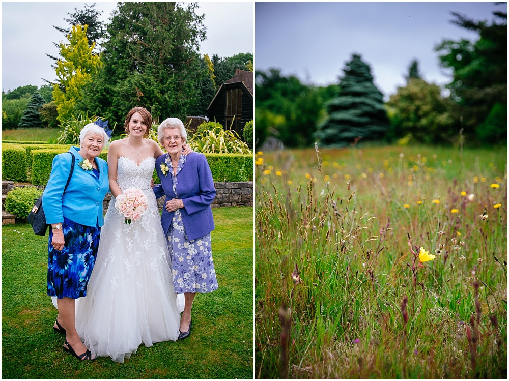 Bride and grandmothers