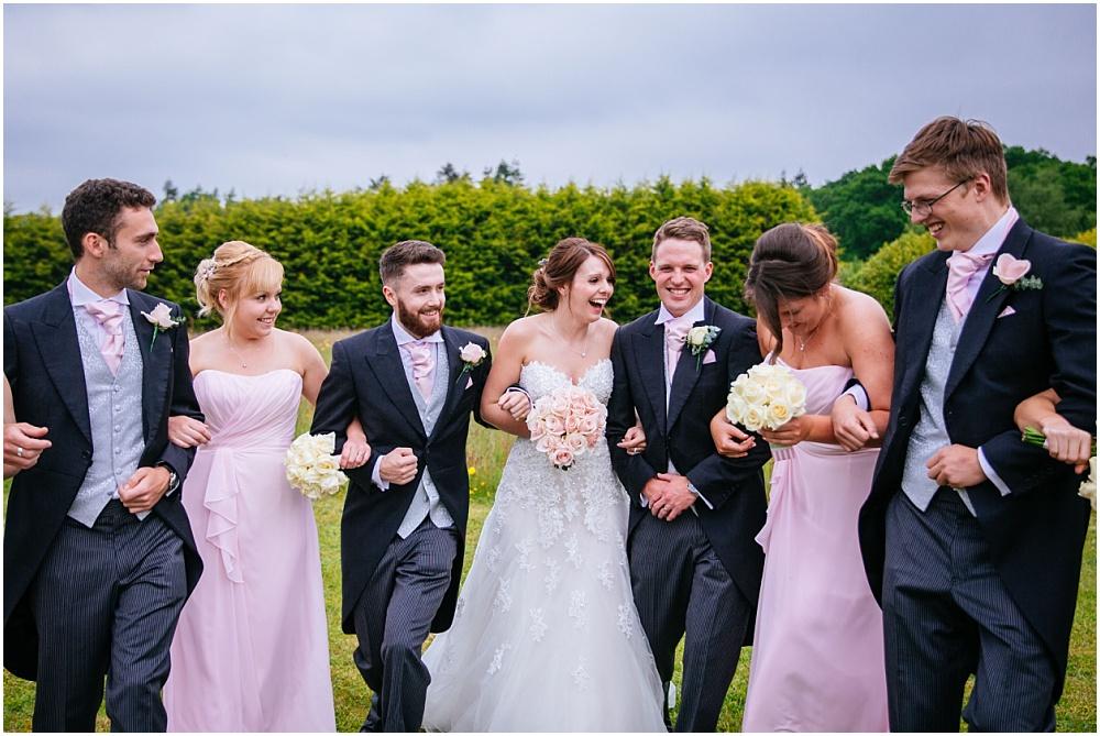 Fun relaxed group photos at wedding
