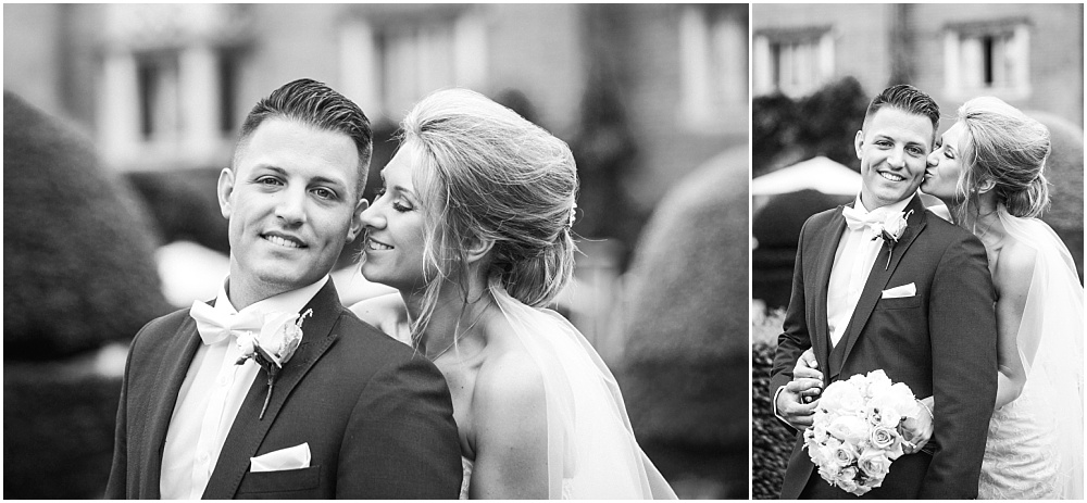 Classic black and white wedding photographs