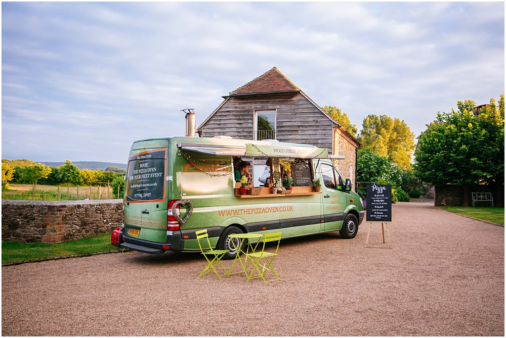 Pizza van at wedding