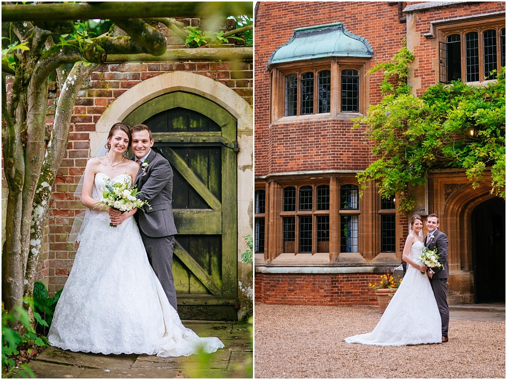 Bride and groom portraits at lanwades hall