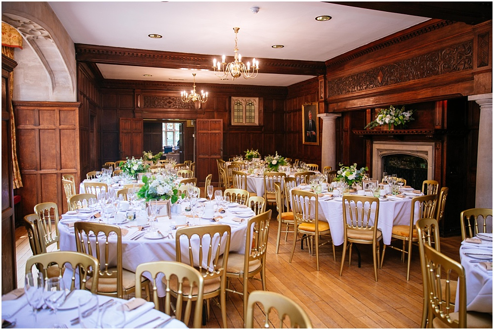 Wedding breakfast tables with botanical details