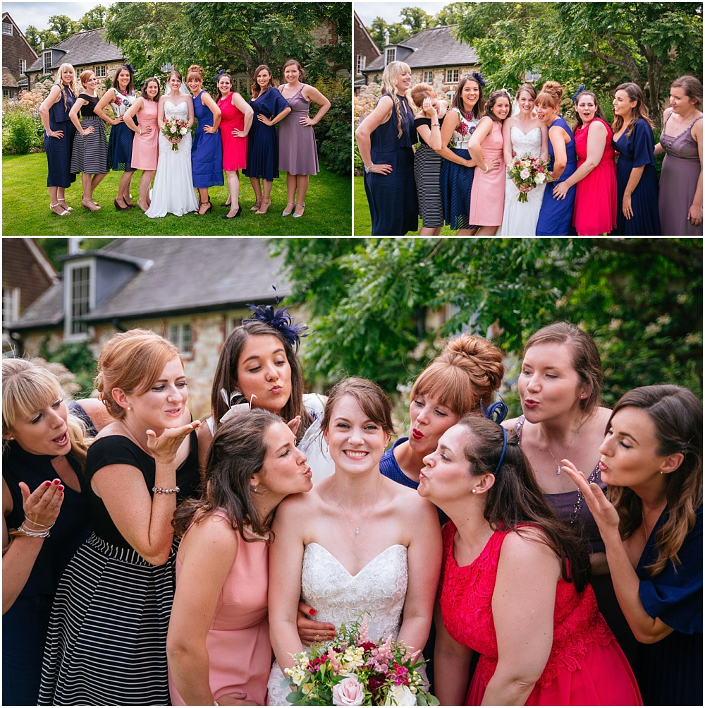 Fun photographs of bride and her friends