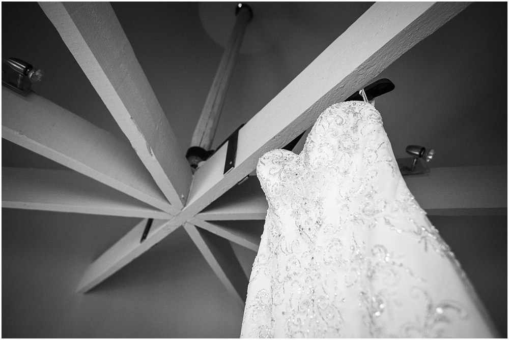Wedding dress at the barn at bury court