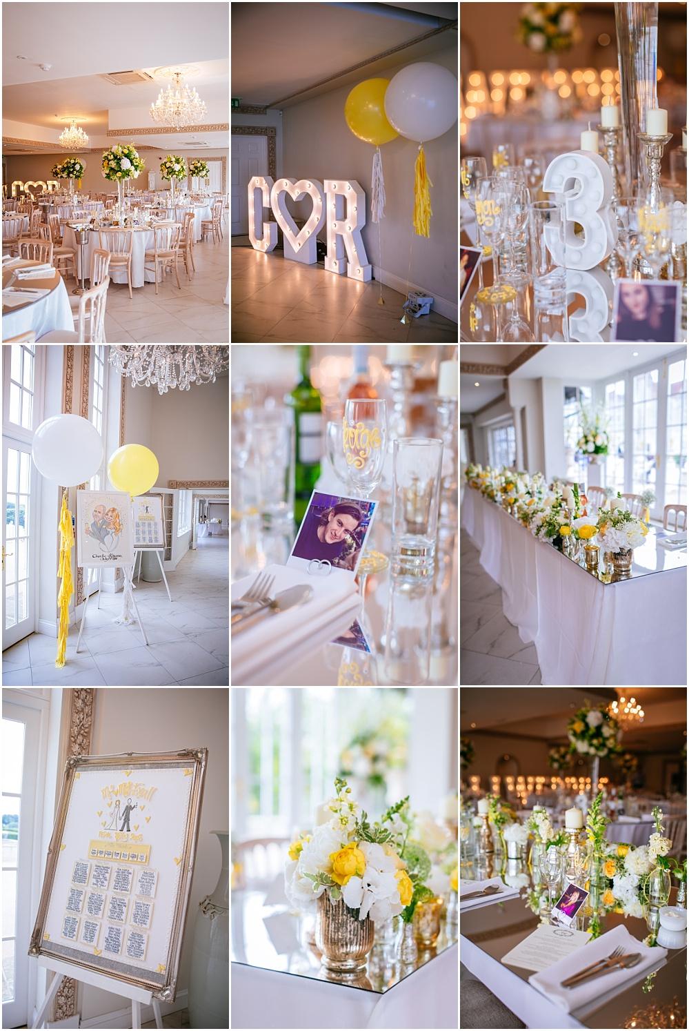 Wedding details yellow wedding