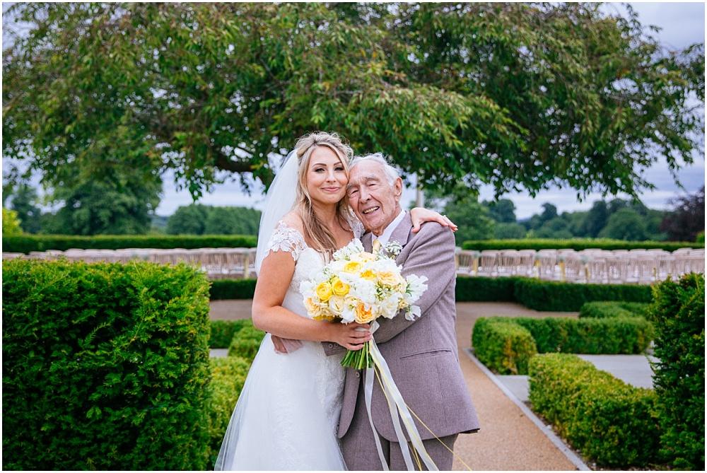 Bride and grandpa