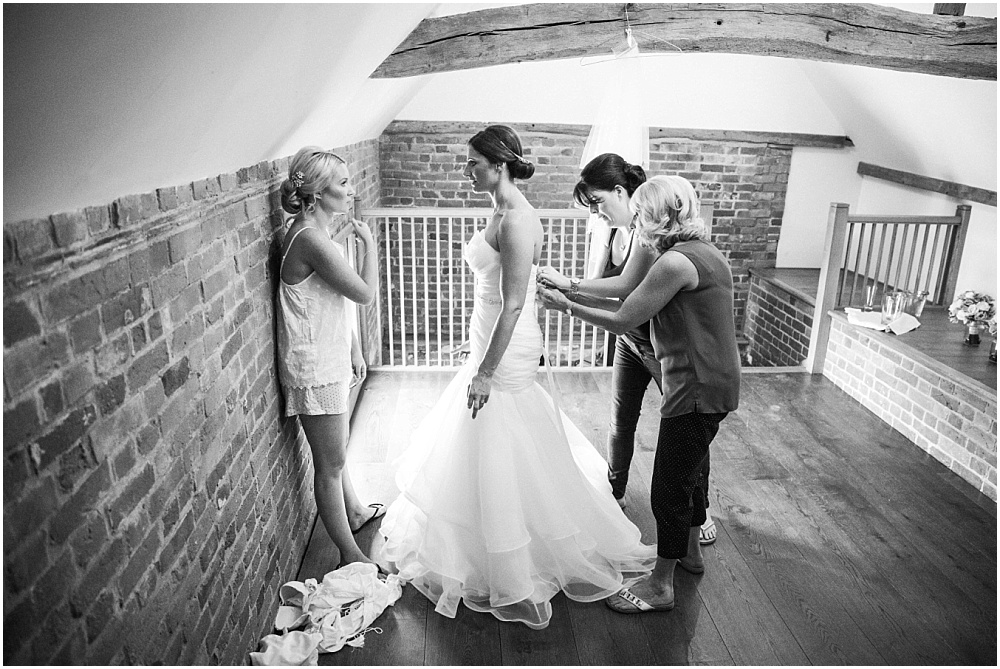 Bride getting ready at micklefield hall