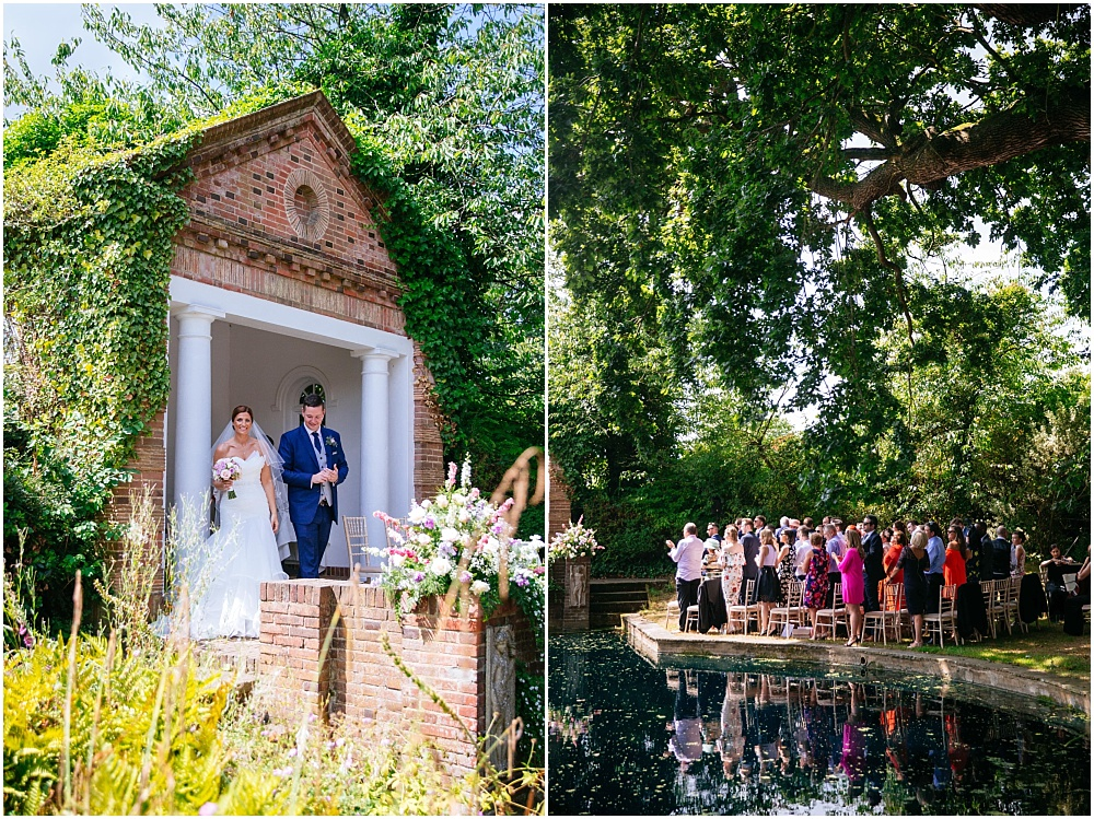Outdoor wedding ceremony in hertfordshire