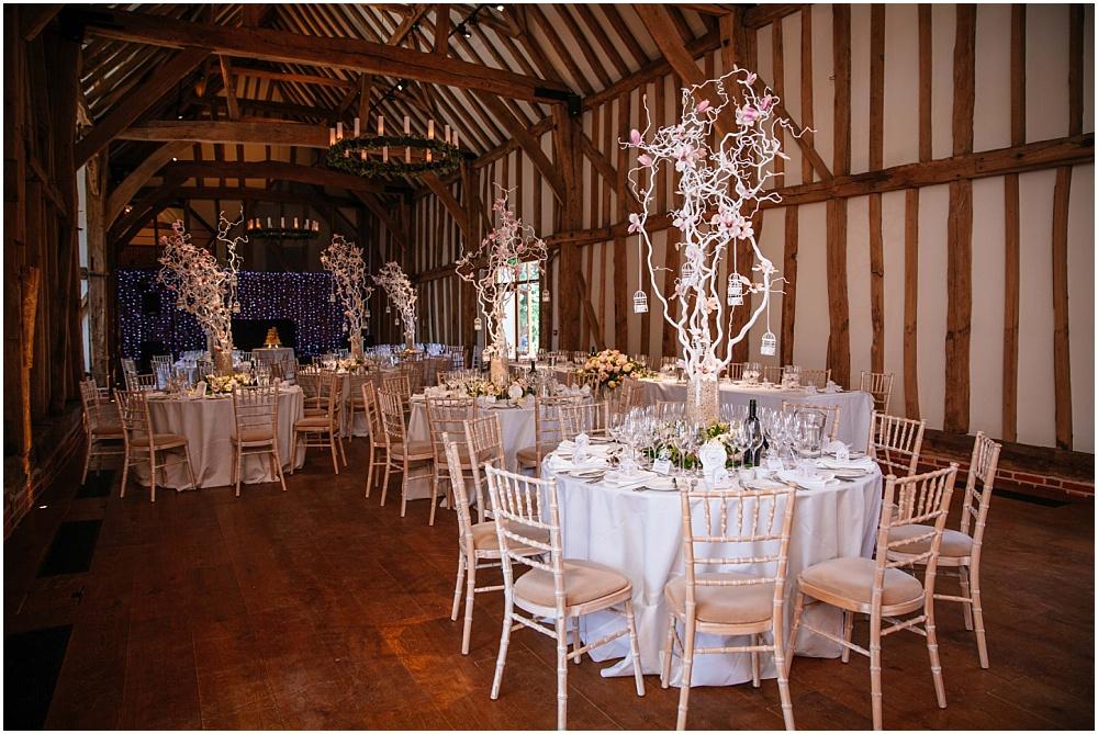 Micklefield hall barn set up for wedding