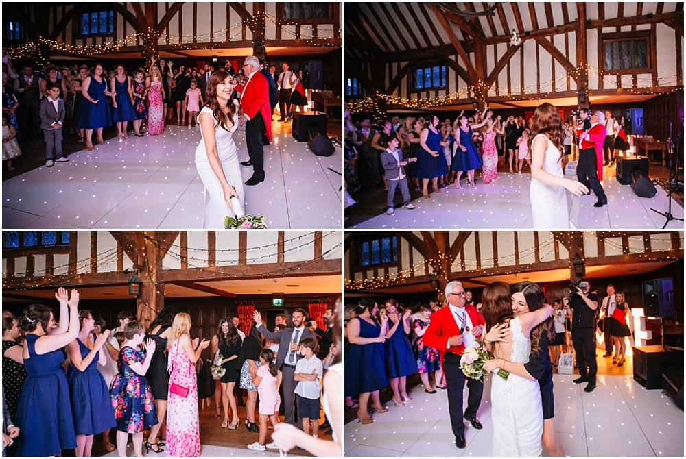 bouquet toss at great fosters