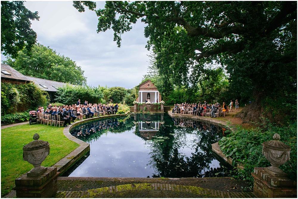 Micklefield hall outdoor wedding ceremony