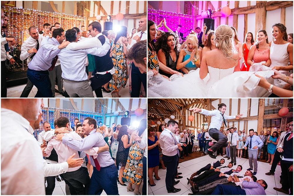 Fun Israeli dancing at wedding