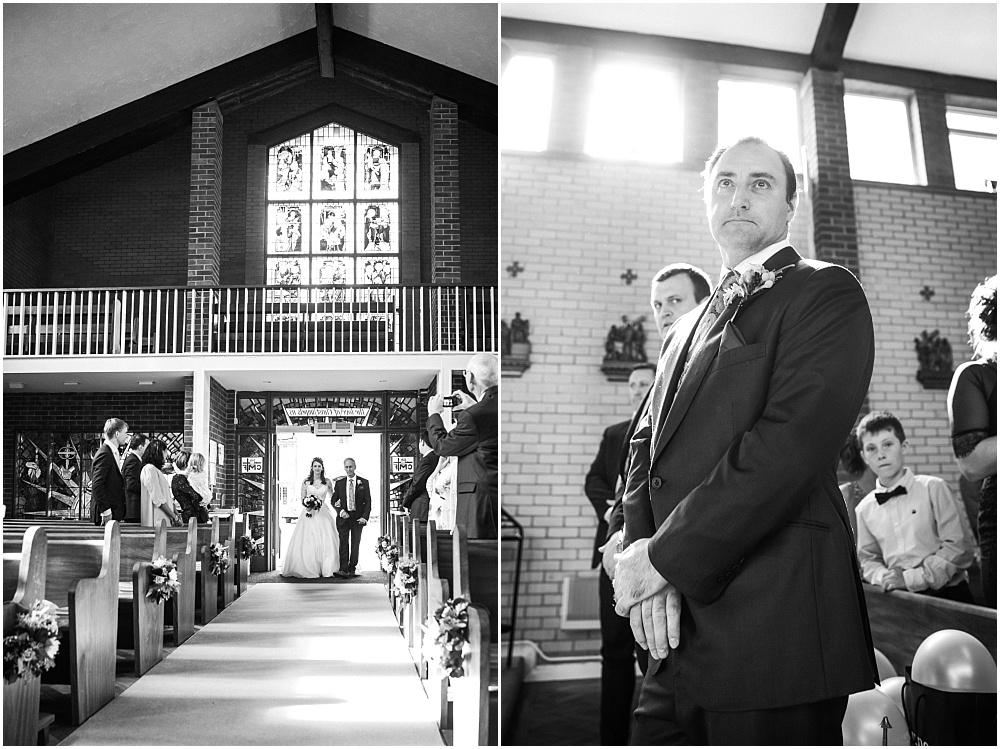 Groom waiting for the bride to arrive