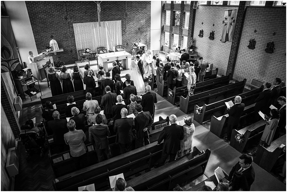 Wedding photographed from above
