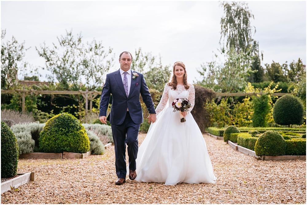 Wedding portraits in the knot garden