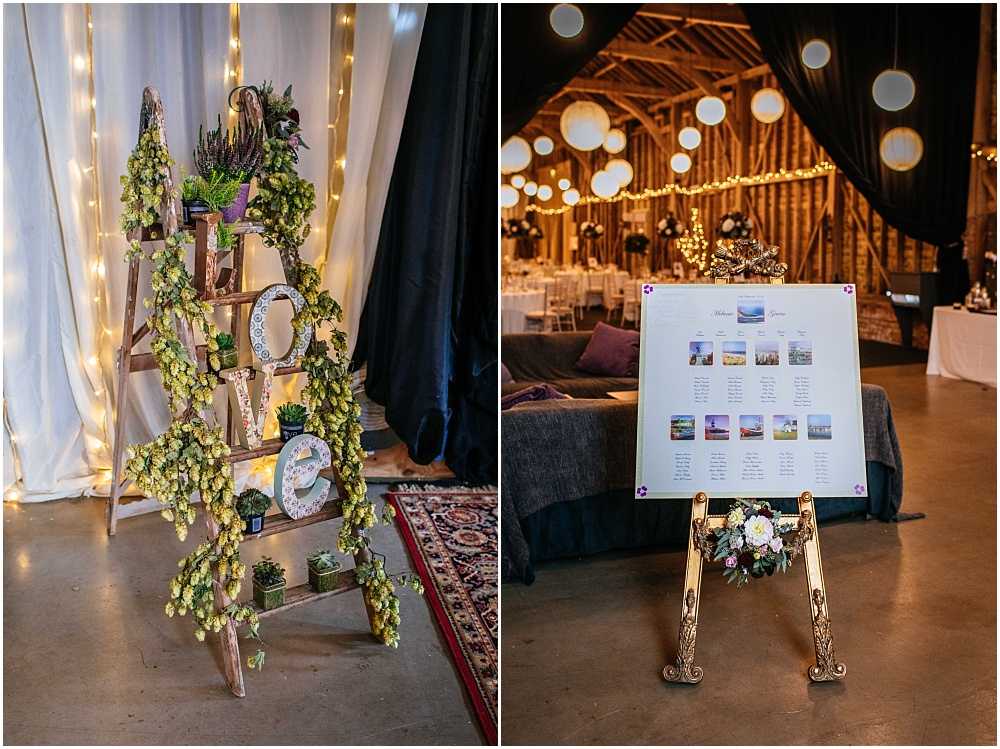 Hops and ladder for table plan